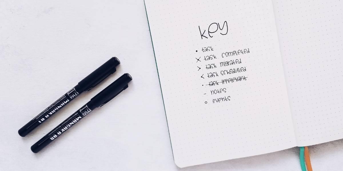 Comprehensive Guide To Bullet Journal Key - original key | Masha Plans
