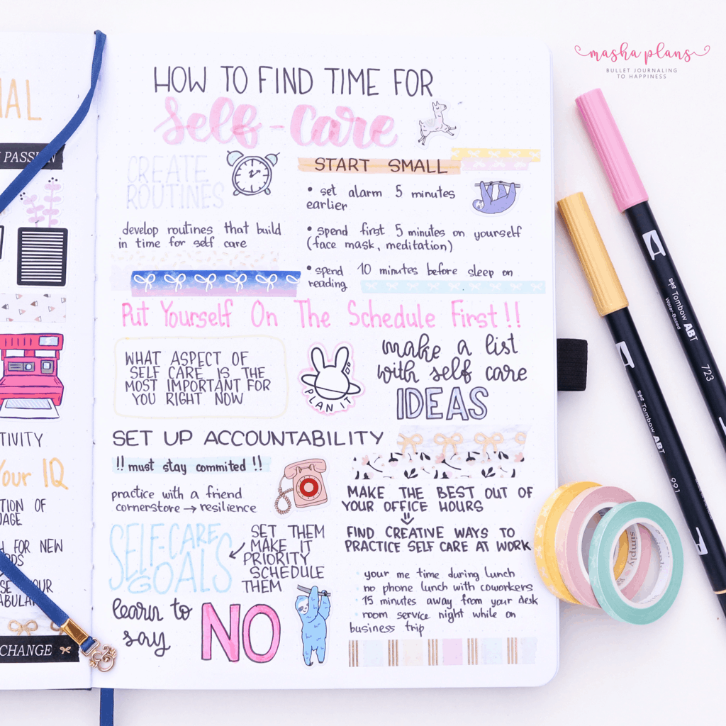 How To Find Time For Self Care | Masha Plans