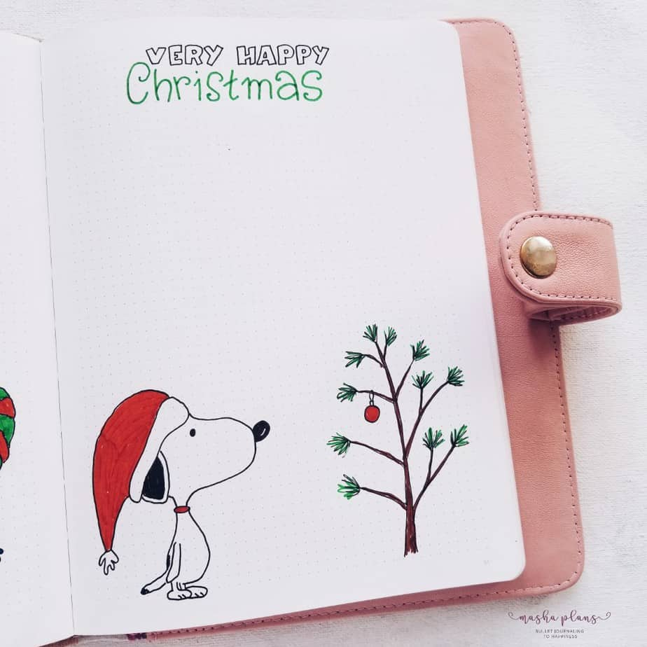 My December Bullet Journal Setup Christmas Theme - Christmas Preparation | Masha Plans