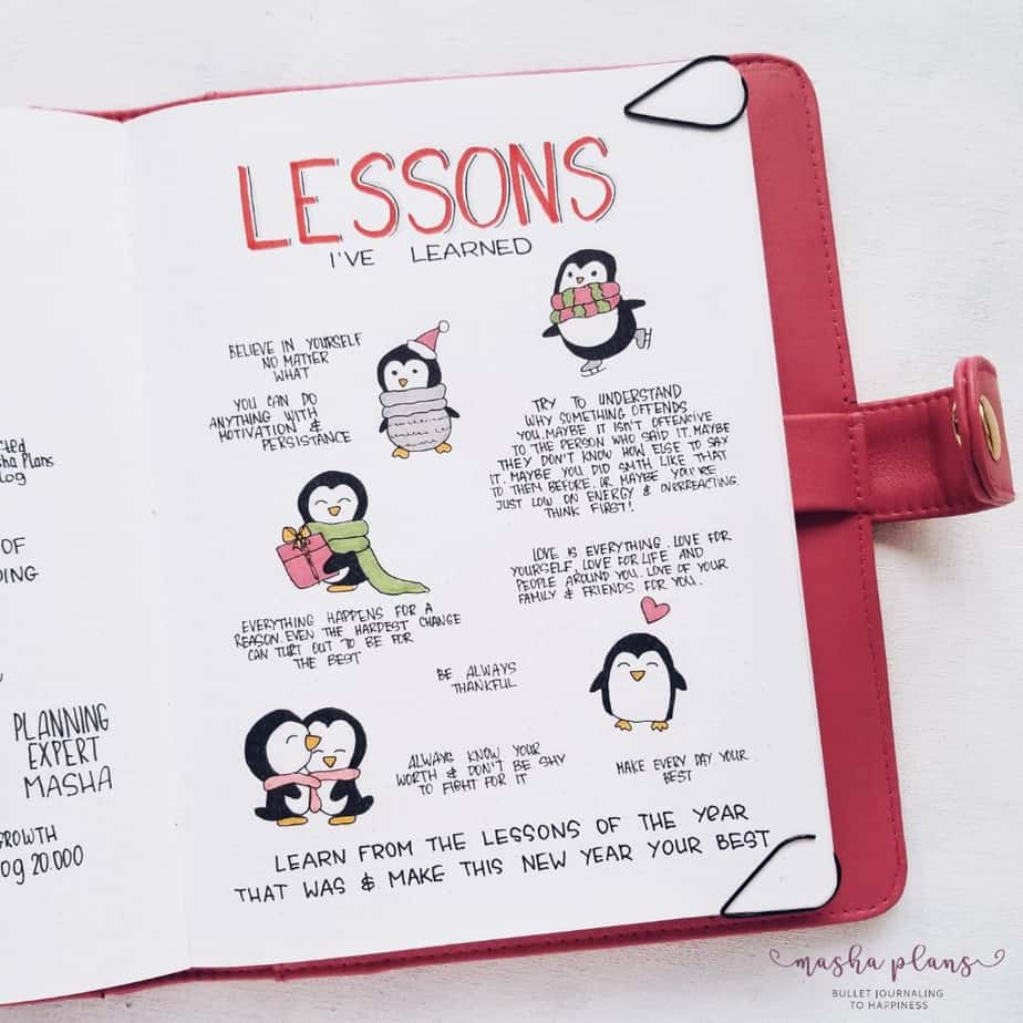 Lessons Learned Spread | Masha Plans