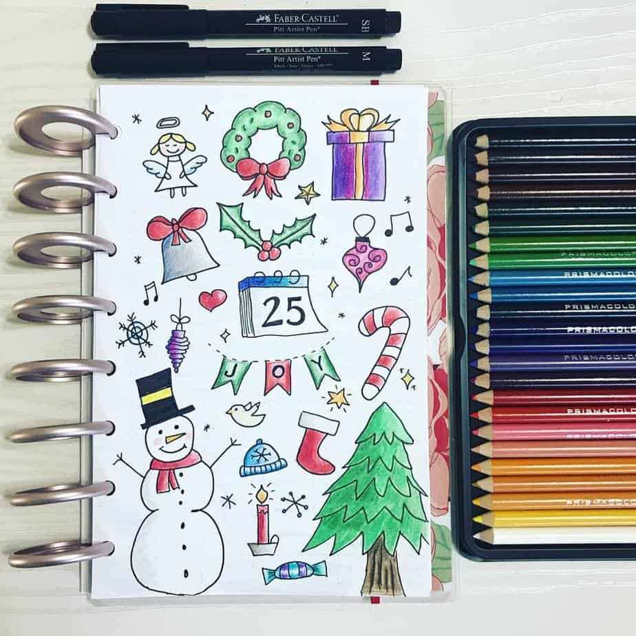 Cutie Little Christmas Bullet Journal Ideas | Masha Plans