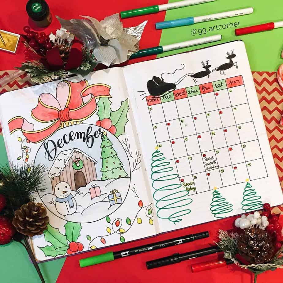 Christmas Monthly Log by @gg.artcorner | Masha Plans
