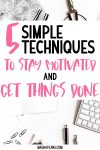 How To Stay Motivated And Get Things Done | Masha Plans