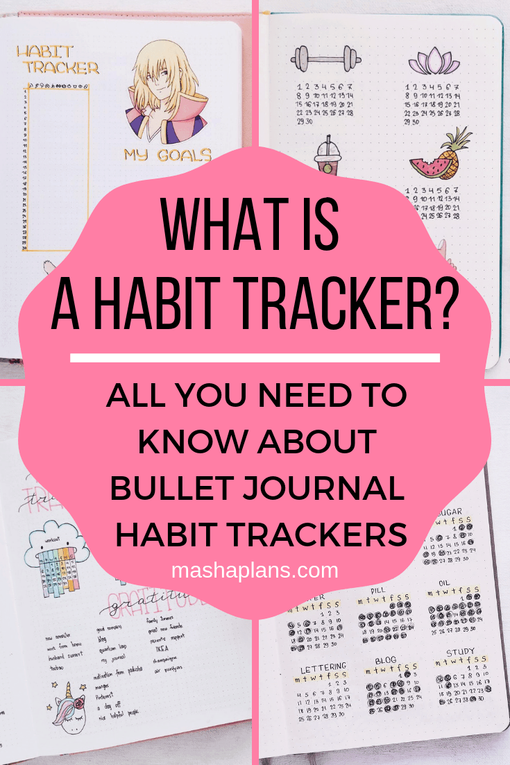 The Ultimate Guide To Bullet Journal Habit Trackers | Masha Plans