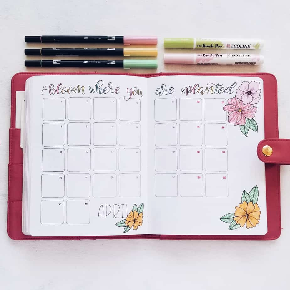Bullet Journal Monthly Log | Masha Plans