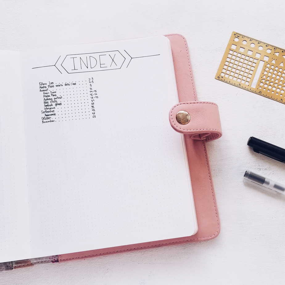 Bullet Journal Index: Tips, Tricks and Inspirations | Masha Plans
