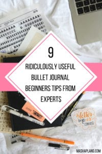 9 Ridiculously Useful Bullet Journal Beginners Tips From Experts | Masha Plans