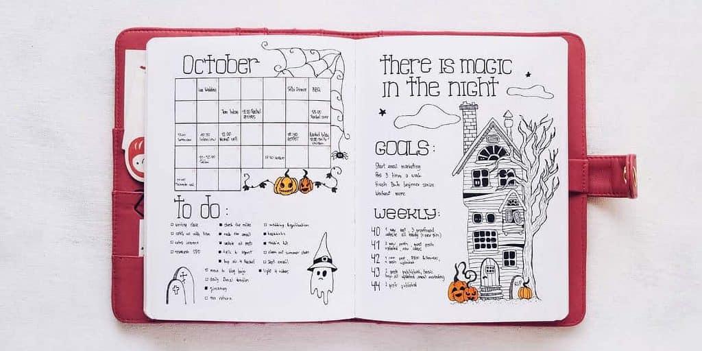 Bullet Journal Monthly Log - Medium Calendar | Masha Plans