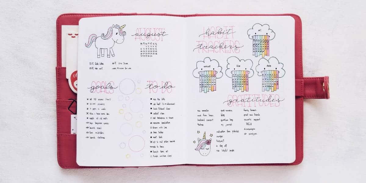 Bullet Journal Monthly Log - Small Calendar | Masha Plans