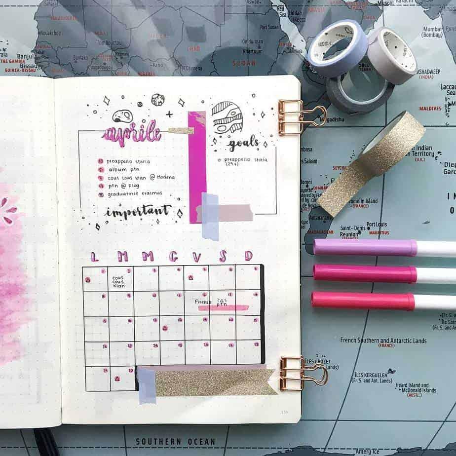 Bullet Journal Monthly Log | Masha Plans
