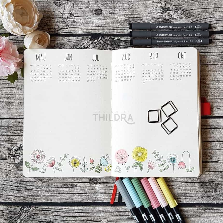 How To Plan Your Year With Bullet Journal Future Log | Masha Plans