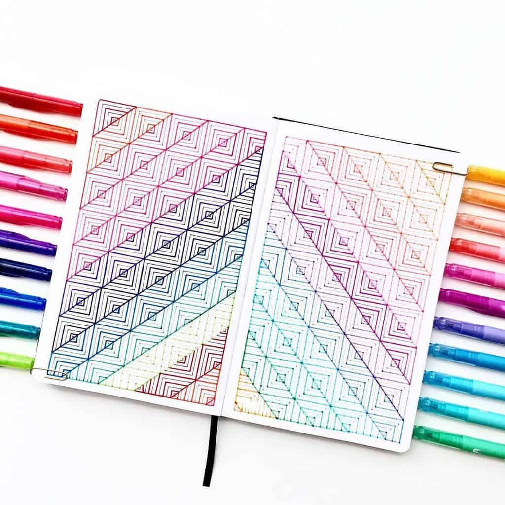 7 Bullet Journal Cover Page Ideas, spread by @studio80design | Masha Plans