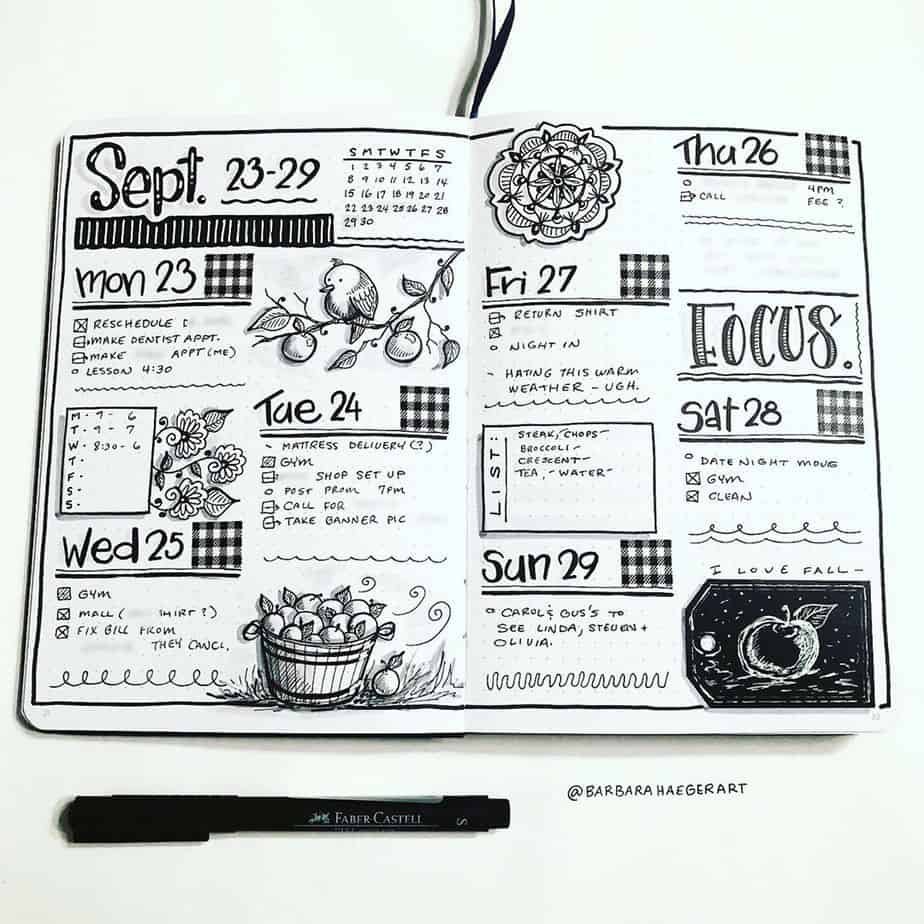 Bullet Journal Weekly Spread VS Daily Log | Masha Plans