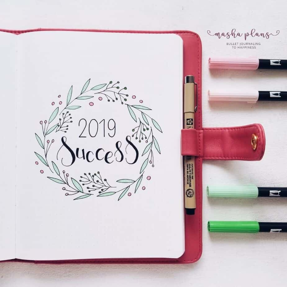 7 Creative Ideas For Your Bullet Journal Cover Page, by @mashaplans | Masha Plans