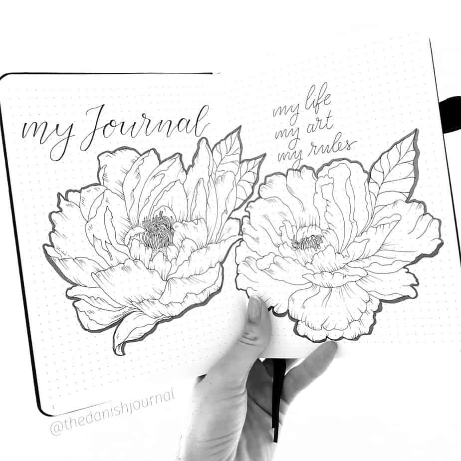 7 Creative Ideas For Your Bullet Journal Cover Page, by @thedanishjournal   Masha Plans