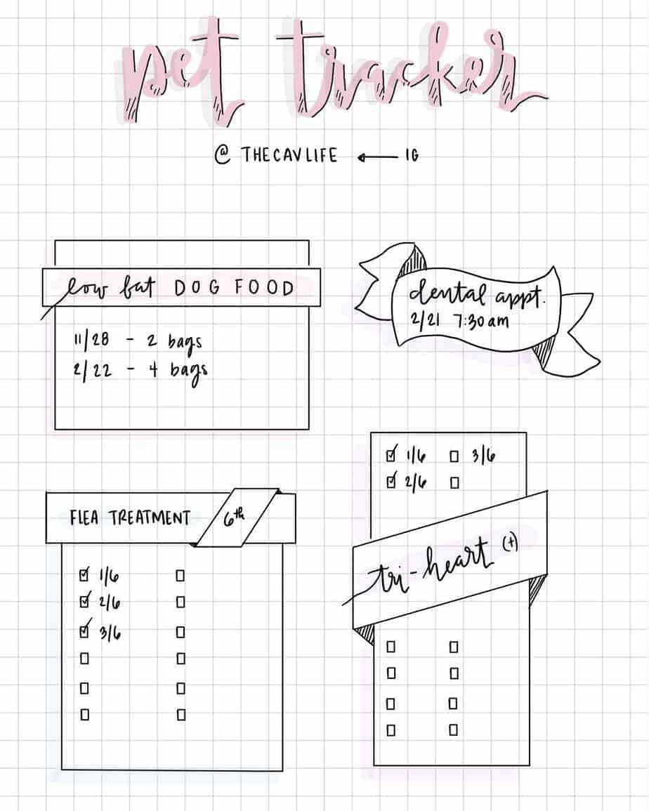 155+ Bullet Journal Habit Tracker Ideas, spread by @journaling_journey | Masha Plans