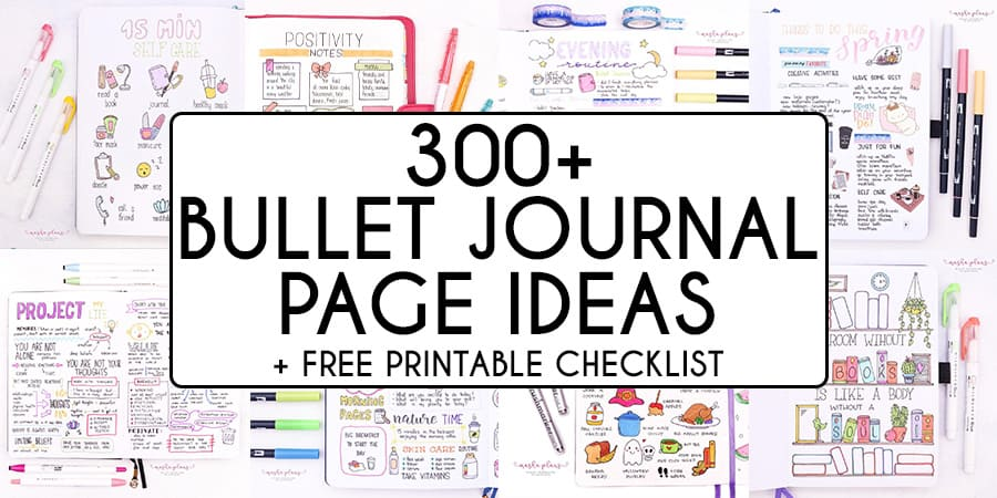 Bullet Journal Page Ideas For Every Area Of Your Life | Masha Plans