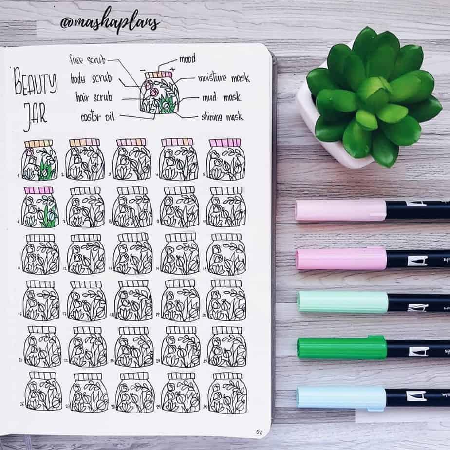 155+ Bullet Journal Habit Tracker Ideas | Masha Plans