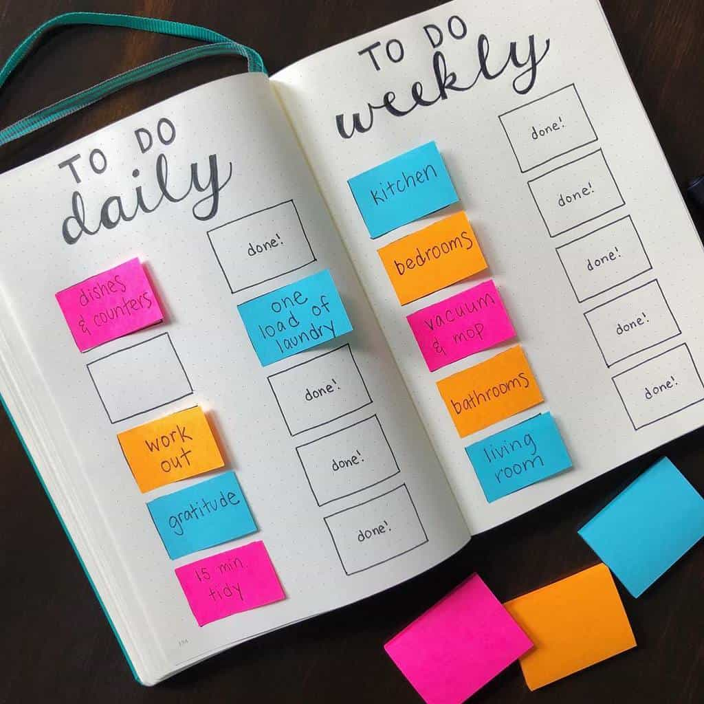 Bullet Journal Cleaning Tracker by @letsliveandlearn | Masha Plans