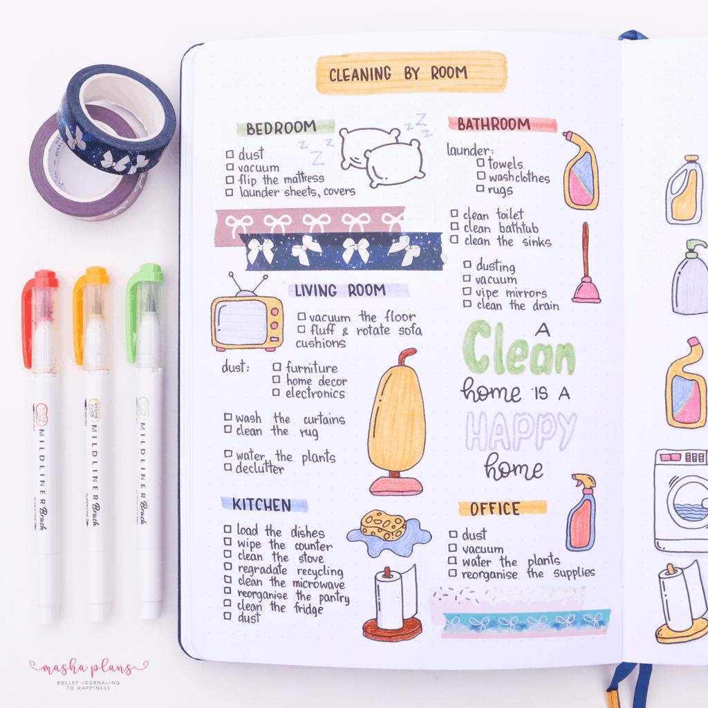 Cleaning Tracker | Masha Plans