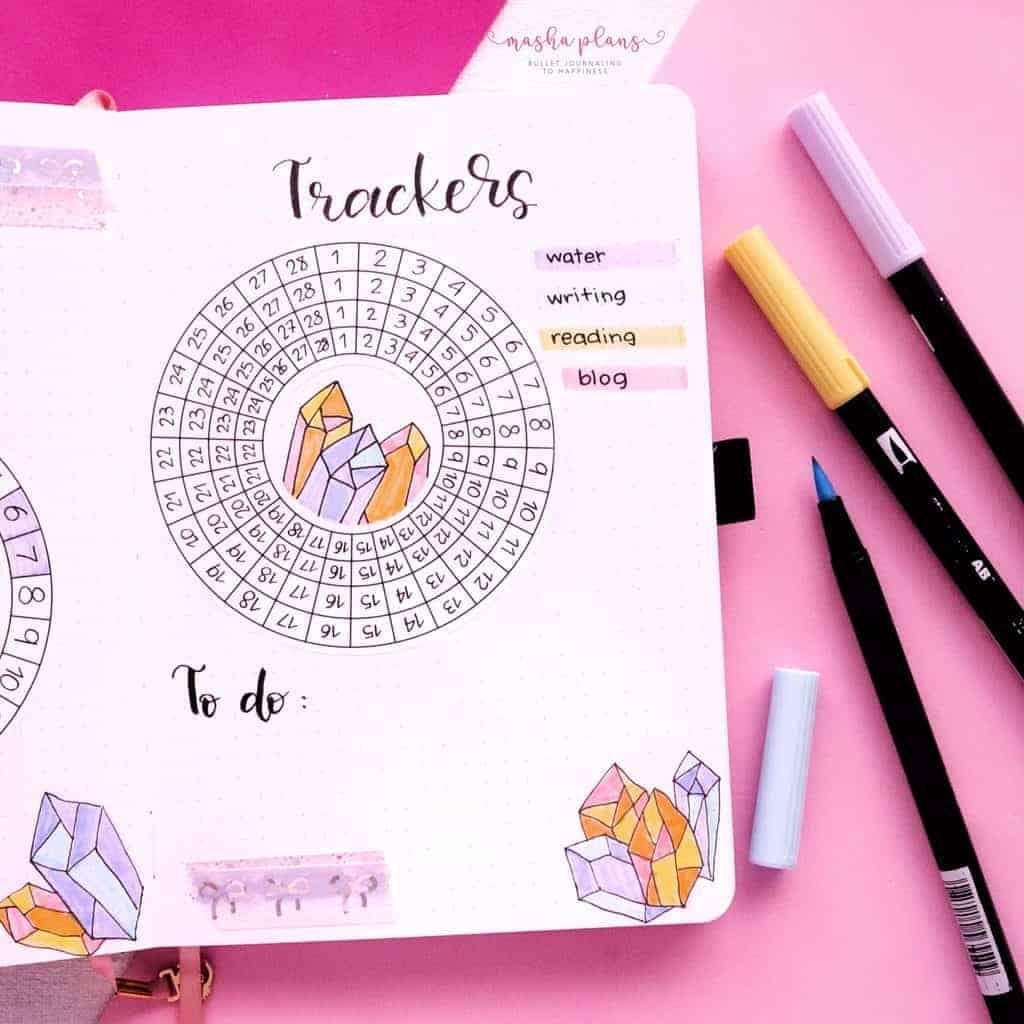 February Circle Habit Tracker | Masha Plans