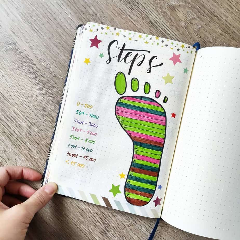Steps Tracker by @bujo.by.mika | Masha Plans