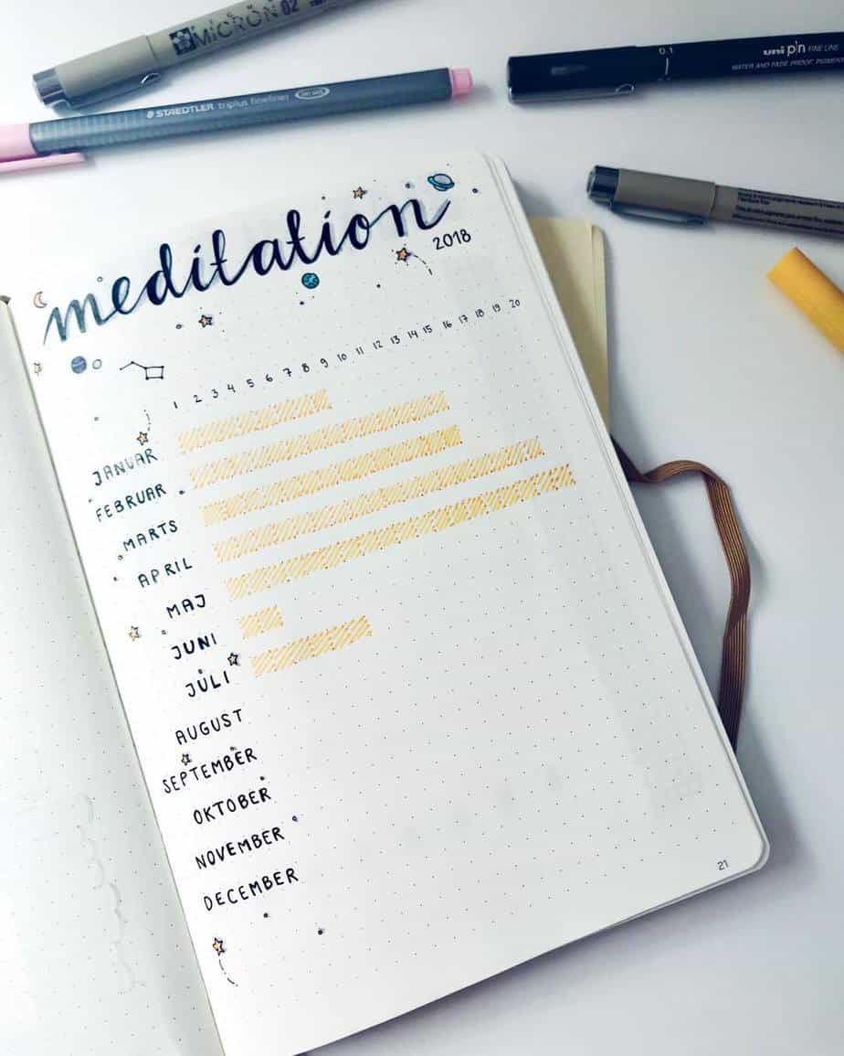 Yearly Habit Tracker by @calmandbujo | Masha Plans