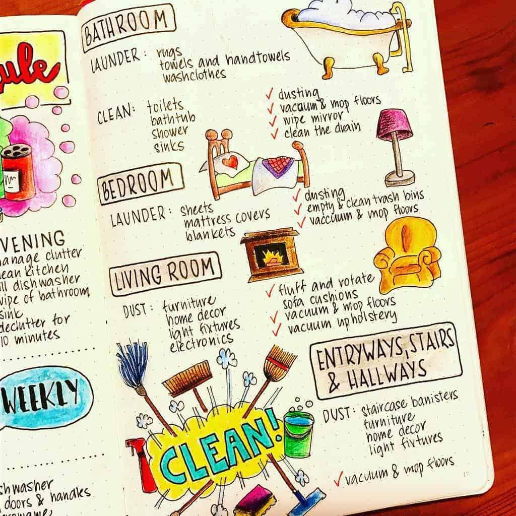 Cleaning Tracker by @czech_totoart | Mash Plans