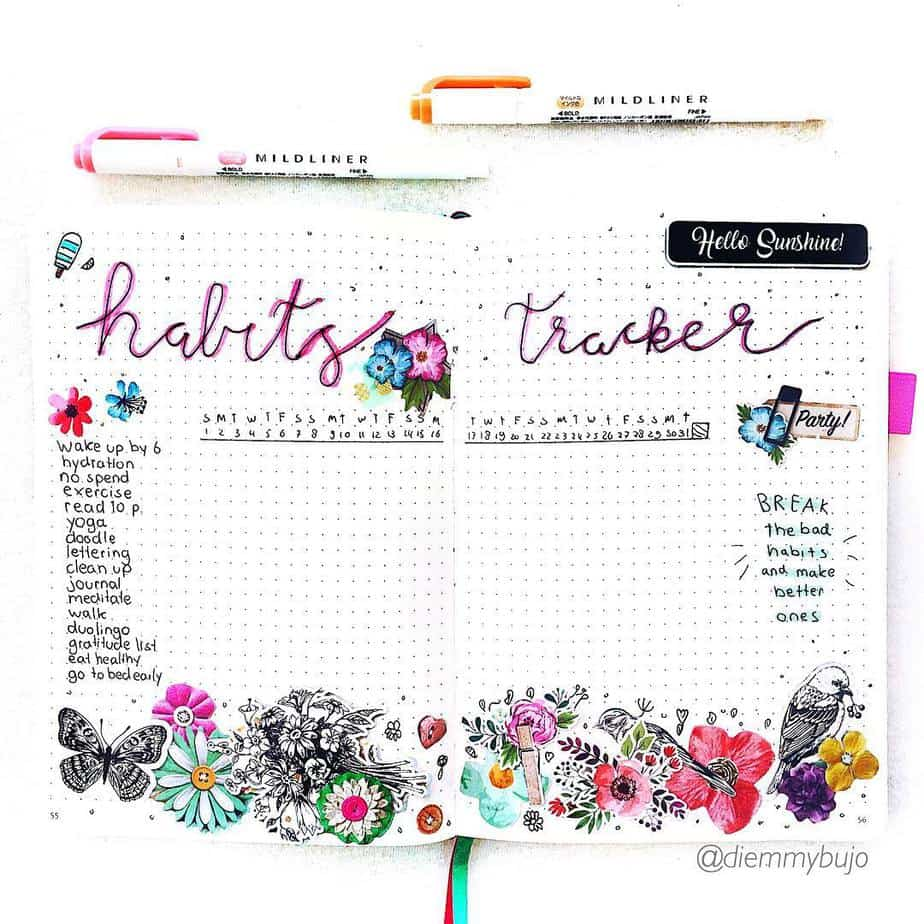 Yearly Habit Tracker by @diemmybujo | Masha Plans
