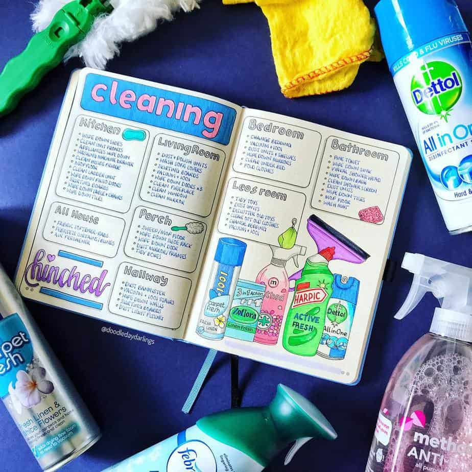 Cleaning Tracker by @doodledaydarlings | Masha Plans