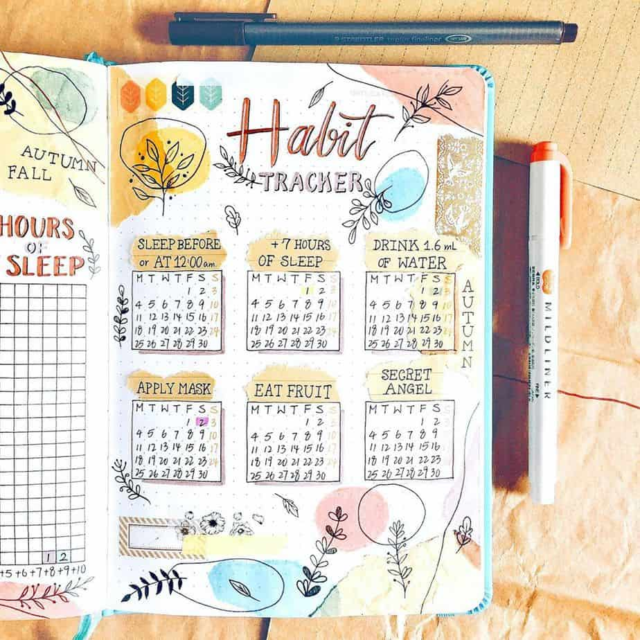 Monthly Habit Tracker by @haru.bujo | Masha Plans