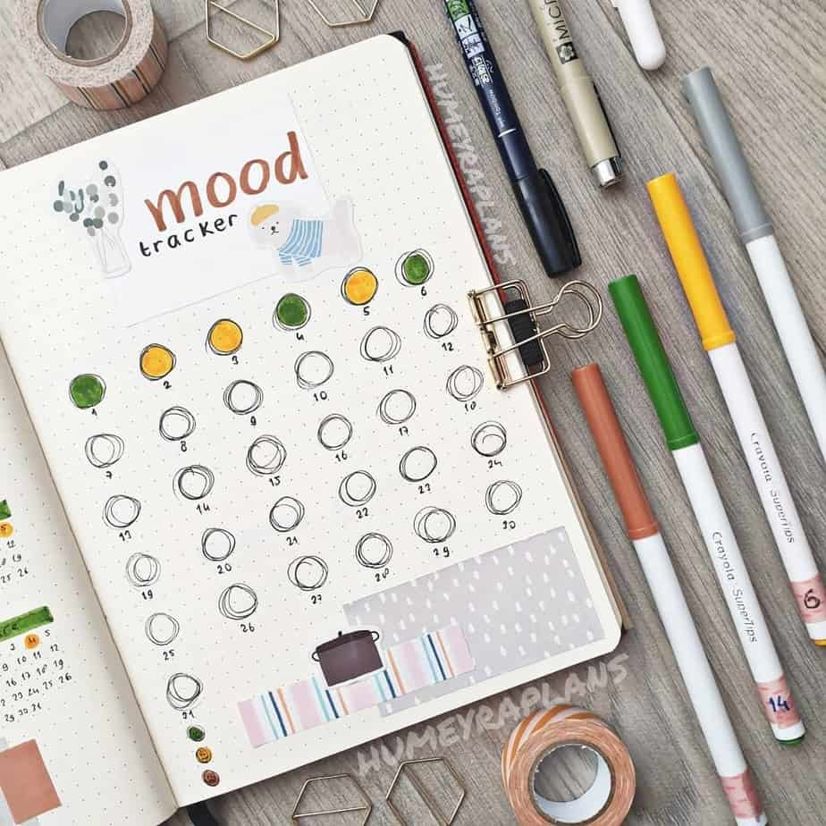 Mood Tracker by @humeyraplans | Masha Plans