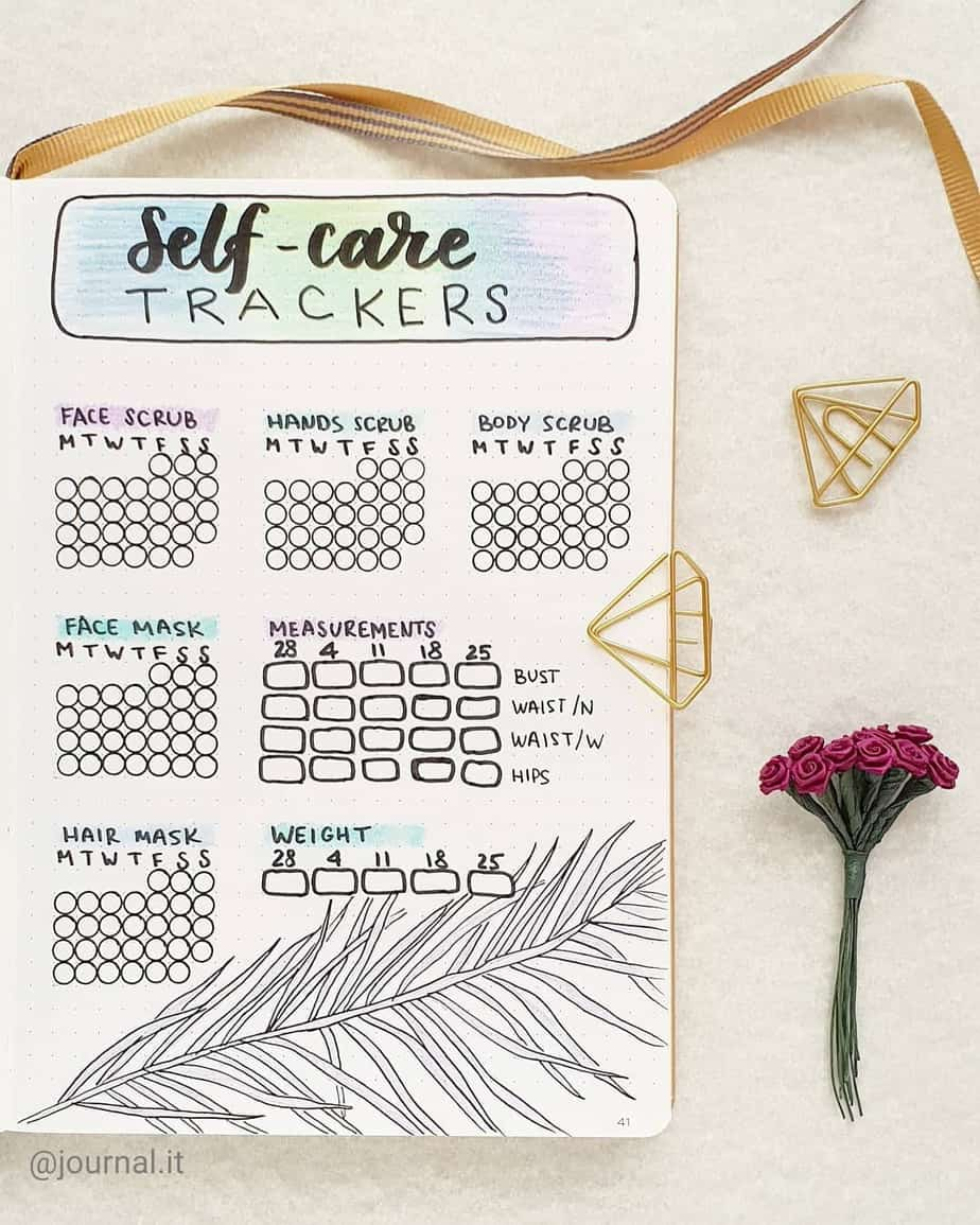 Self Care Habit Tracker by @journal.it | Masha Plans