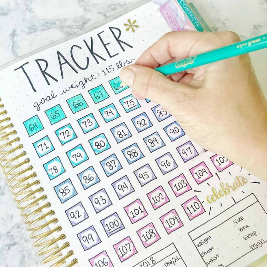 Weight Loss Tracker by @katiecsteiner | Masha Plans