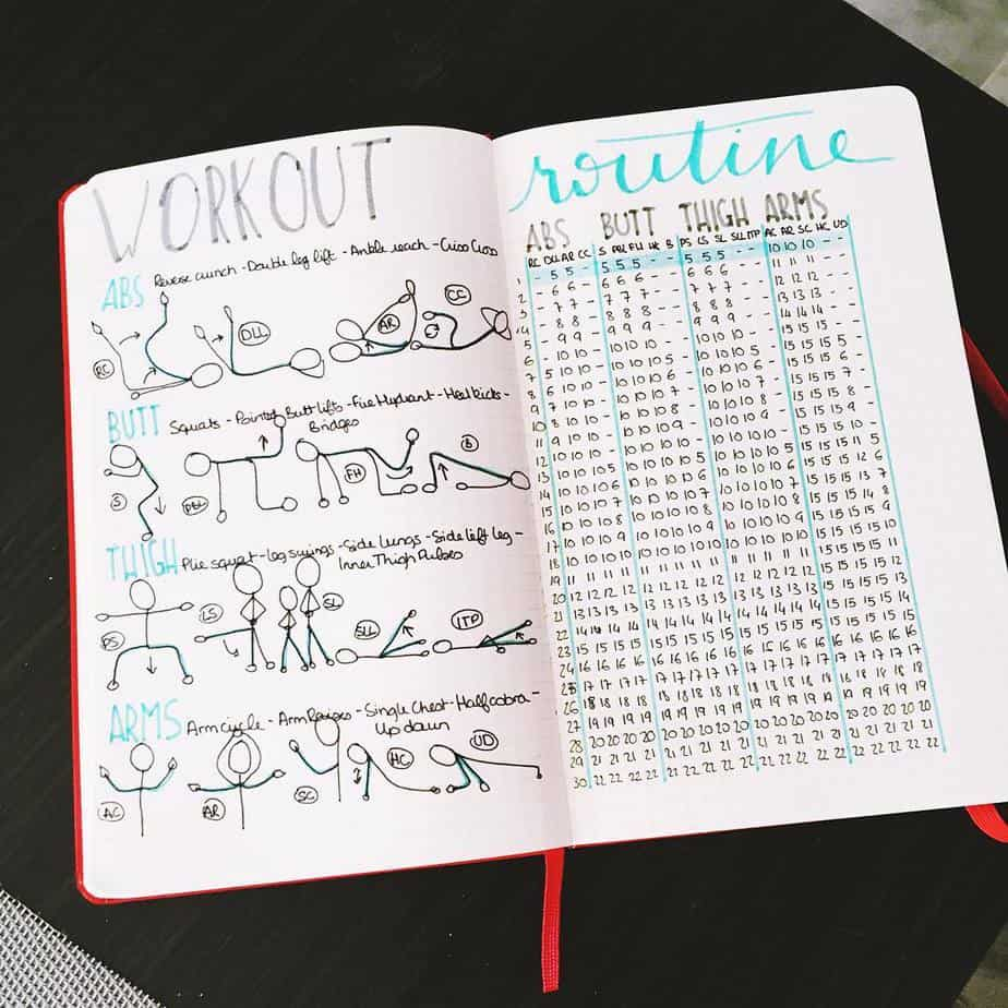 Workout Tracker by @littleblackbujo | Masha  Plans