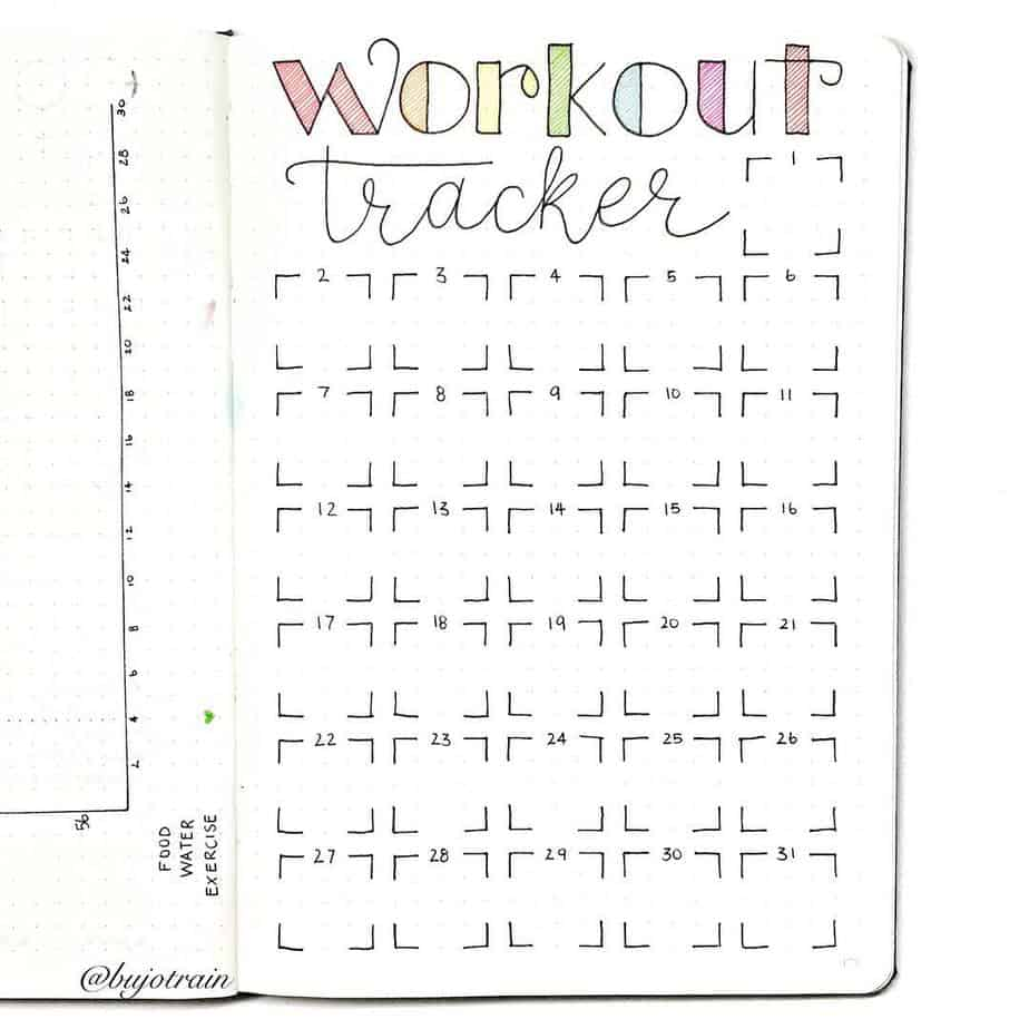 Workout Tracker by @littlemissrose | Masha Plans