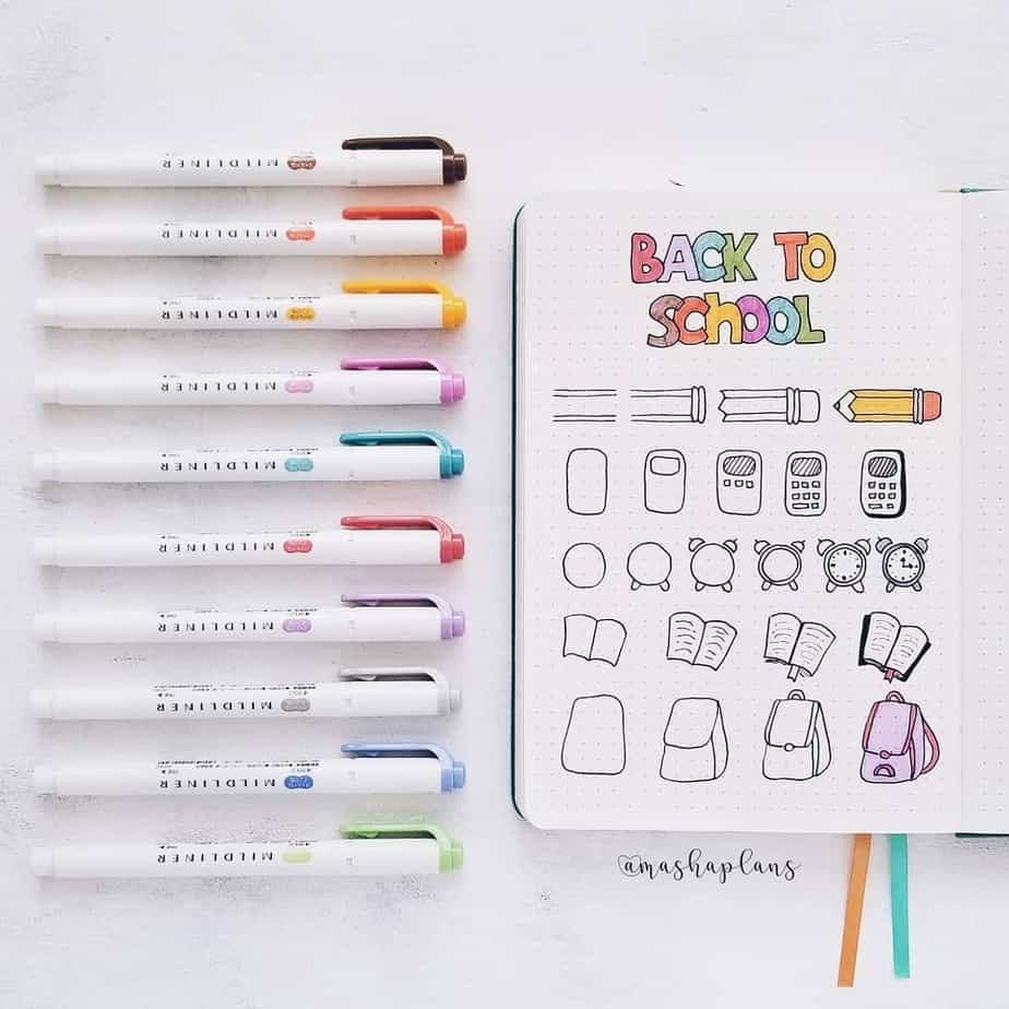 Master Your Bullet Journal Doodles, @mashaplans | Masha Plans