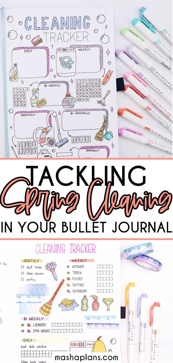 Bullet Journal Ideas To Tackle Spring Cleaning | Masha Plans