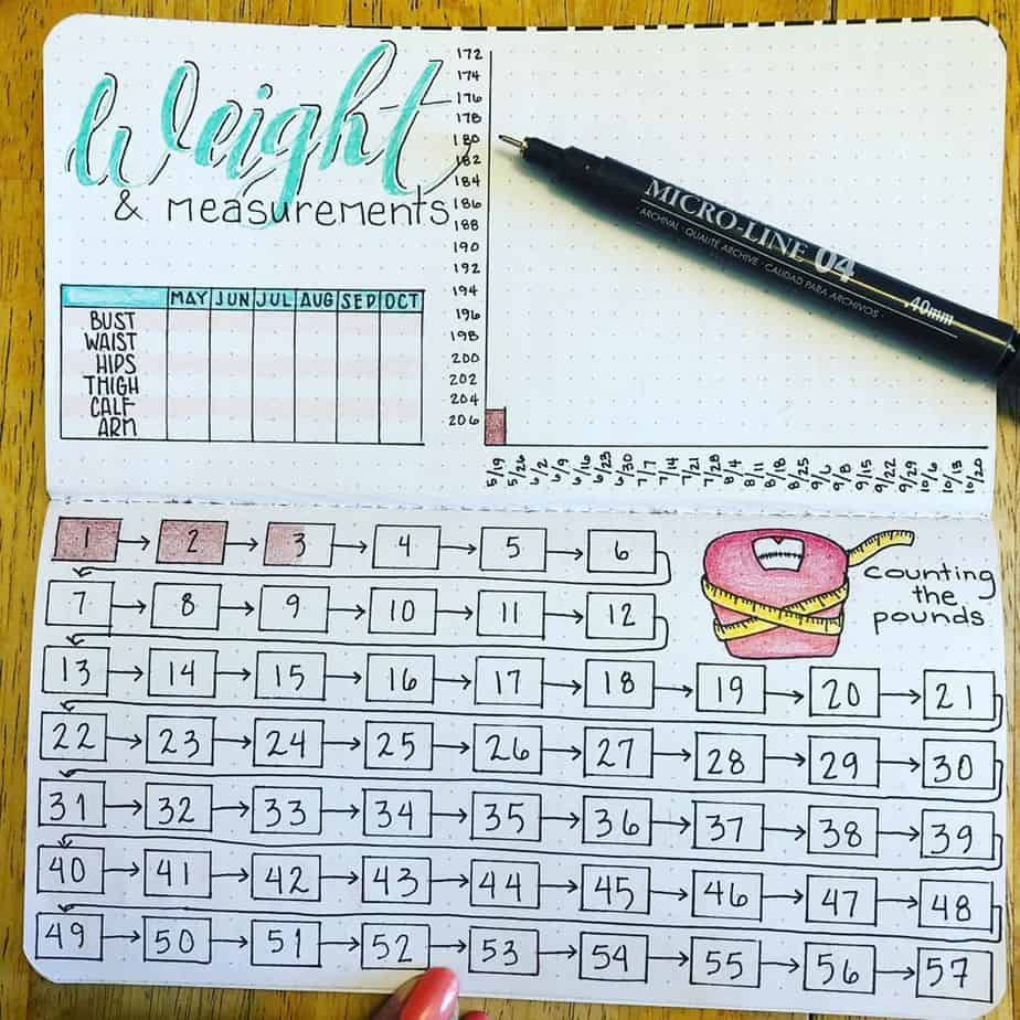 Weight Loss Tracker by @plan_in_color | Masha Plans