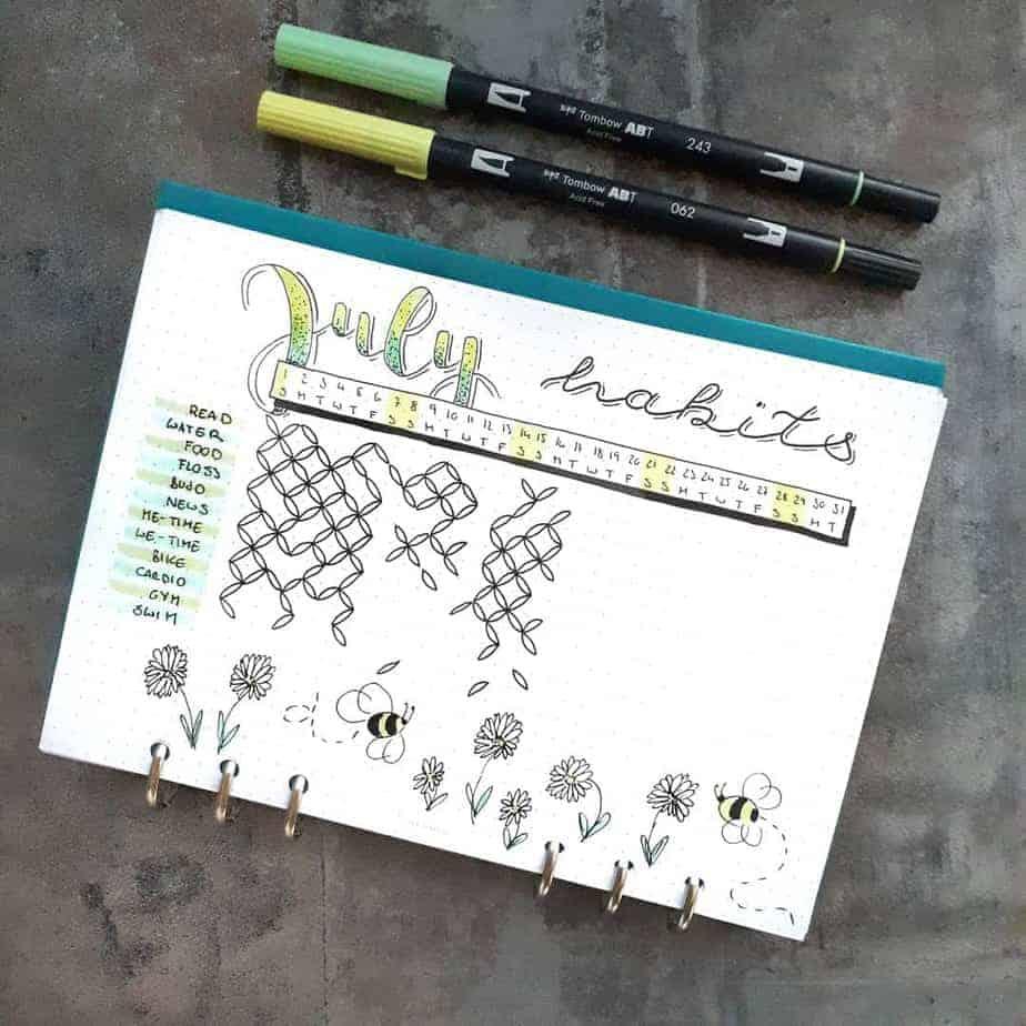 Yearly Habit Tracker by @seras.bullet.journal | Masha Plans