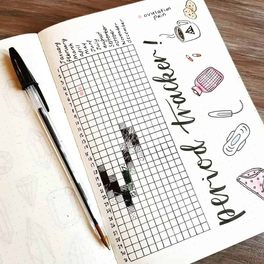 Period Tracker by @splendidscribbles | Masha Plans