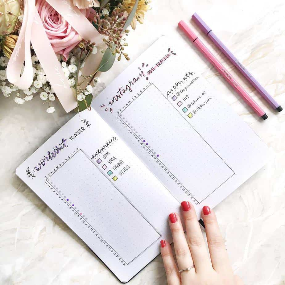 Yearly Habit Tracker by @thejournaltea | Masha Plans