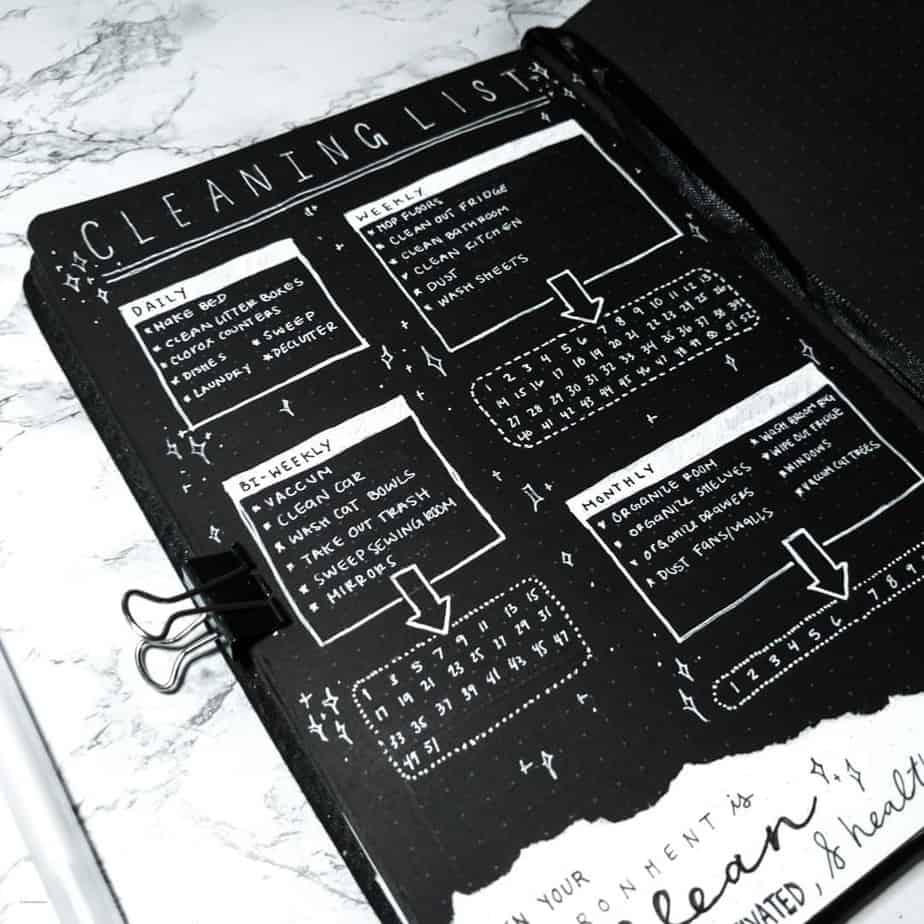 Cleaning Tracker by @themakerlena | Masha Plans