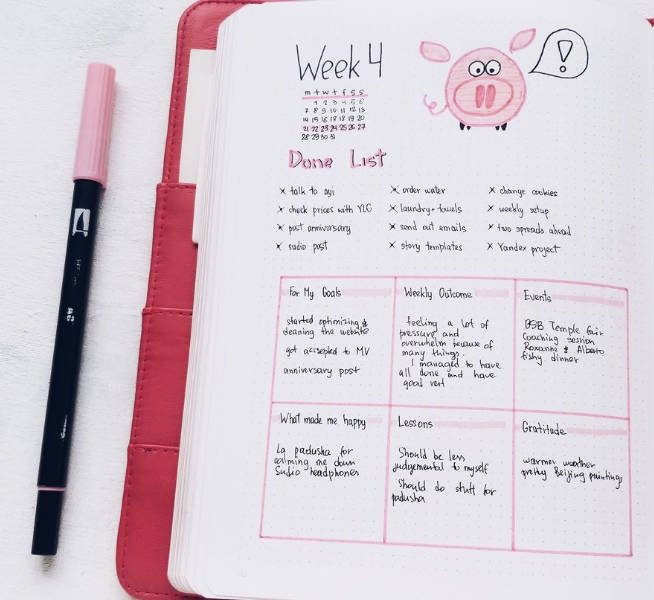 9 Weekly Bullet Journal Spreads You Need To Try: Done List | Masha Plans