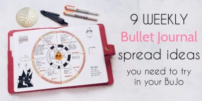 9 Weekly Bullet Journal Spreads You Need To Try | Masha Plans
