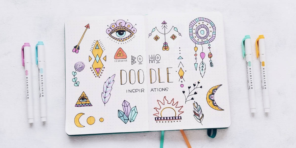 Boho Bullet Journal Theme Inspirations - Boho Doodles | Masha Plans