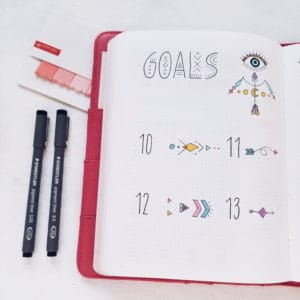 Boho Bullet Journal Theme Inspirations - Monthly Goals | Masha Plans