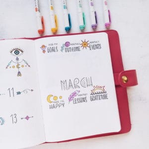 Boho Bullet Journal Theme Inspirations - Monthly Review | Masha Plans