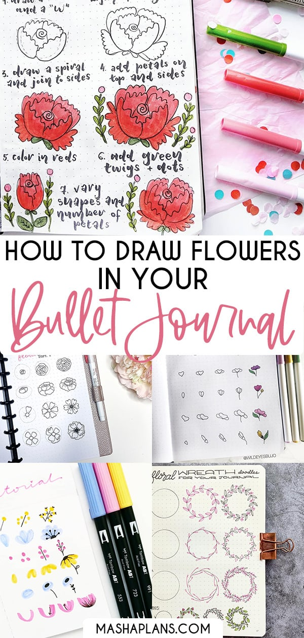 How To Draw Flower Doodles In Your Bullet Journal | Masha Plans