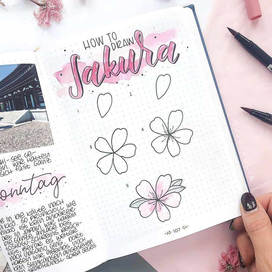 How To Draw Flowers - tutorials by @bujotrulla | Masha Plans